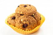 pic of baked raisin cookies  - Freshly delicious baked oatmeal raisin cookies - JPG