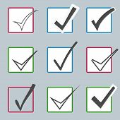 image of confirmation  - Vector confirm icons set - JPG