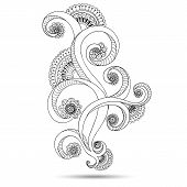 pic of henna tattoo  - Henna Paisley Mehndi Doodles Abstract Floral Vector Illustration Design Element - JPG