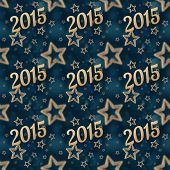 stock photo of iron star  - New Year on the night stars seamless pattern on the blue background - JPG