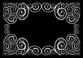 foto of swirly  - Vintage swirly frame  - JPG