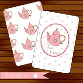 image of teapot  - Teapot cards events - JPG