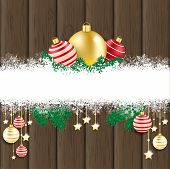 picture of x-files  - Christmas cover with white snowflakes on the wooden background - JPG