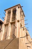 picture of dubai  - Windtower in the old merchant quarter of Bastakiya in Dubai United Arab Emirates - JPG