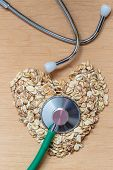 pic of oats  - Dieting healthcare concept - JPG