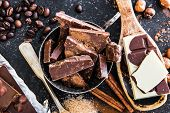 foto of chocolate spoon  - chocolate - JPG
