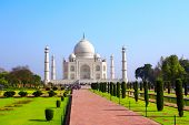 stock photo of mumtaj  - Taj Mahal mausoleum in Agra - JPG