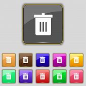 foto of reuse  - Recycle bin Reuse or reduce icon sign - JPG