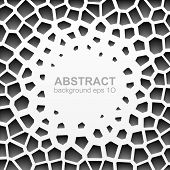 stock photo of grayscale  - Abstract grayscale geometric pattern - JPG