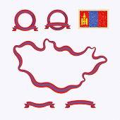 stock photo of mongol  - Outline map of Mongolia - JPG
