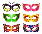 stock photo of venice carnival  - Masquerade masks set - JPG