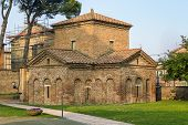stock photo of mausoleum  - The Mausoleum of Galla Placidia is a Roman building in Ravenna Italy - JPG