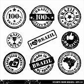 stock photo of carnival brazil  - Set of stamps from Brazil - JPG
