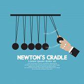 stock photo of newton  - Flat Design Newton - JPG
