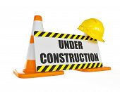 stock photo of construction  - Under construction concept background  - JPG