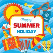 pic of booklet design  - Happy summer holiday  - JPG