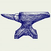 stock photo of anvil  - Anvil - JPG