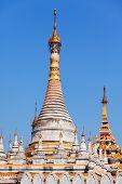 stock photo of slab  - Kuthodaw Pagoda is a Buddhist stupa located in Mandalay Burma  - JPG
