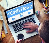 stock photo of electronic banking  - Cashflow Investing Banking Money Revenue Investment Concept - JPG