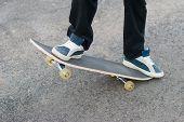 picture of skateboarding  - Skateboarder close - JPG