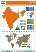 stock photo of nationalism  - vector India illustration country nation national culture - JPG