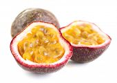 picture of passion fruit  - Passion fruit isolated on white - JPG