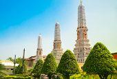 stock photo of royal palace  - Bangkok luxurious royal palace and garden - JPG