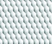 stock photo of grayscale  - Grayscale 3d Cubes minimal repeatable pattern  - JPG