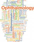 Постер, плакат: Background concept wordcloud illustration of ophthalmology