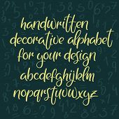 Exclusive Custom Alphabet. Handwritten Font. Modern Calligraphy. Vector Abc. poster