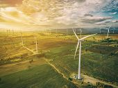 Wind Turbine, Wind Energy Concept. poster