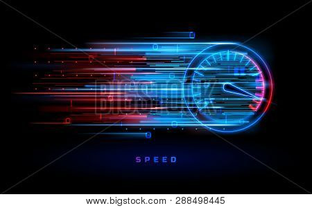 Download Progress Bar Or Round Indicator Of Web Speed. Sport Car Speedometer For Hud Background. Gau poster