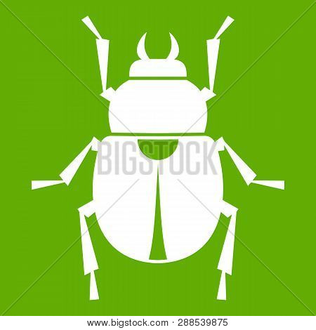 Scarab Icon White Isolated On