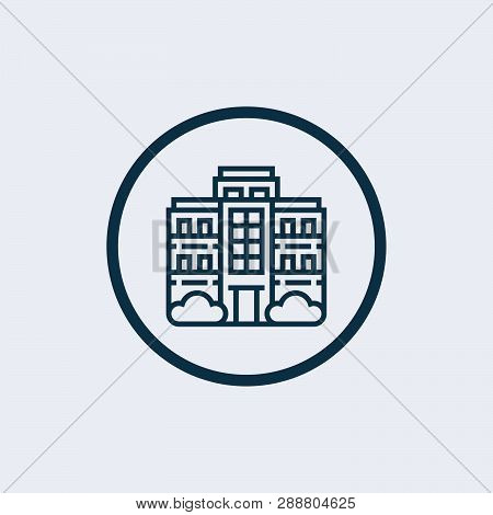 poster of Apartment Icon Isolated On White Background. Apartment Icon In Trendy Design Style. Apartment Vector
