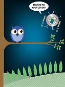 Постер, плакат: Птица дерево чужеродных