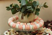 French Macaroons. Candy Bar.wedding Feast. Wedding Sweets poster