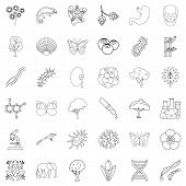 Wildlife Icons Set. Outline Style Of 36 Wildlife Icons For Web Isolated On White Background poster