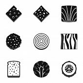 Slice Of Vegetables Icon Set. Simple Set Of 9 Slice Of Vegetables Icons For Web Isolated On White Ba poster