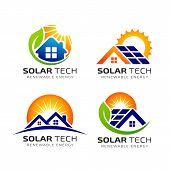 Sun Solar Energy Logo Design Template. Eco Energy Logo Designs poster