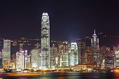 foto of hong kong bridge  - Hong Kong skyline night - JPG