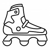 Indoor Inline Skates Icon. Outline Indoor Inline Skates Icon For Web Design Isolated On White Backgr poster