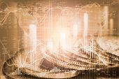 Stock Market Or Forex Trading Graph And Candlestick Chart Suitable For Financial Investment Concept. poster