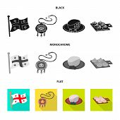 Vector Design Of Culture And Sightseeing Icon. Set Of Culture And Originality Stock Vector Illustrat poster