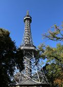 Petrin Lookout Tower Is A Tall Steel Framework Tower In Prague In Czech Republic. It Is Similar The  poster
