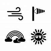 Weather Forecast, Meteorology. Simple Related Vector Icons Set For Video, Mobile Apps, Web Sites, Pr poster