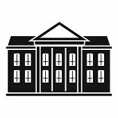 Classic Courthouse Icon. Simple Illustration Of Classic Courthouse Vector Icon For Web Design Isolat poster