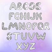 Hand Drawn Alphabet Letters. Handwritten Font Is Perfect For Cards And Posters. Isolated Letters. Sc poster