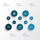 Multimedia Icons Line Style Set With Headphone, Loading, Microphone And Other Quaver Elements. Isola poster