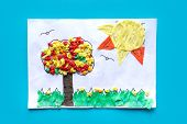 Preschool Arts, Crafts Activities. Easy Crafts Ideas, Creative Paper Projects  For Kids. Fun Educati poster