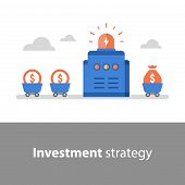 Long Term Investment, Fund Management, Fund Raising, Income Increase, Start Up Concept, Interest Rat poster